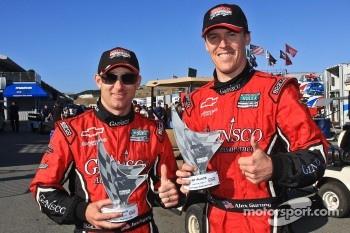 Race winners Jon Fogarty and Alex Gurney