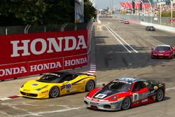 #009 Ferrari of San Francisco Ferrari 458 Challenge: Kevin Marshall, #91 Ferrari of Ft. Lauderdale Ferrari F430 Challenge: Guy Leclerc