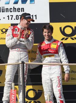 Edoardo Mortara, Audi Sport Team Rosberg, Audi A4 DTM, Mike Rockenfeller, Audi Sport Team Abt Sportsline Audi A4 DTM