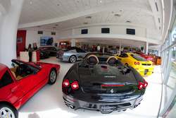 Ferrari of Fort Lauderdale, overall view of the showroom