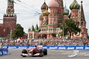 Ferrari demo on the streets of Moscow