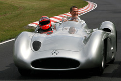 Michael Schumacher, Mercedes GP drives the 1956 Mercedes W196s