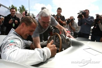Michael Schumacher, Mercedes GP drives the Mercedes 1955 W196s