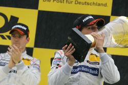 Podium: race winner Bruno Spengler, Team HWA AMG Mercedes