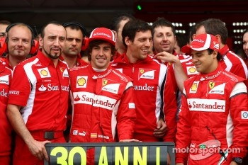 Fernando Alonso, Scuderia Ferrari celebrates his 30th Birthday