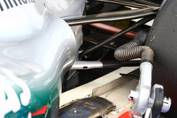 Rear exhaust of the Mercedes