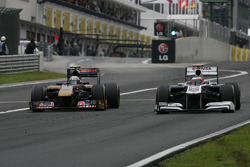 Jaime Alguersuari, Scuderia Toro Rosso and Rubens Barrichello, Williams F1 Team