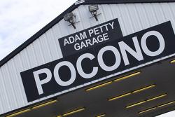 Pocono Raceway garage area