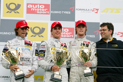 Podium: race winner Daniel Juncadella, Prema Powerteam Dallara F309 Mercedes, second place Roberto Merhi, Prema Powerteam Dallara F308 Mercedes, third place Nigel Melker, Mucke Motorsport Dallara F308 Mercedes