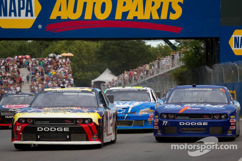 Alex Tagliani, Penske Racing Dodge and Robby Gordon, Robby Gordon Motorsports Dodge