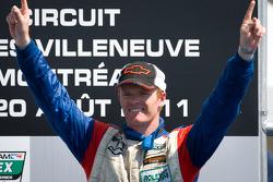 GT podium: class winner Robin Liddell