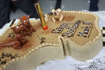 Mark Webber, Red Bull Racing celebrates his birthday