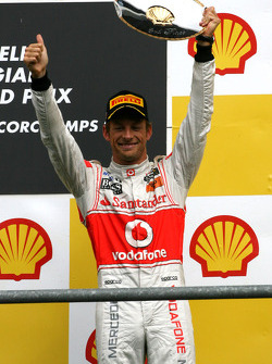 Podium: third place Jenson Button, McLaren Mercedes