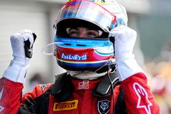 Luca Filippi celebrates his victory