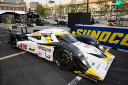 Race winner #20 Oryx Dyson Racing Lola B09/86 Mazda: Humaid Al Masaood, Steven Kane enters parc fermé