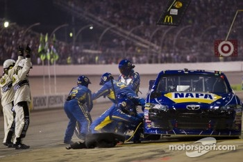Pit stop for Martin Truex Jr., Michael Waltrip Racing Toyota