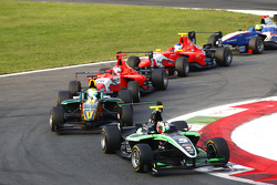 Antonio Felix Da Costa leads James Calado and Mitch Evans