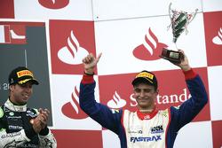 Nico Muller on the podium with Antonio Felix Da Costa