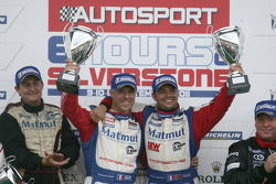 GTE Am podium: class winners Raymond Narac and Nicolas Armindo