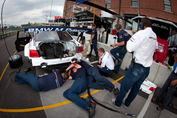 BMW Motorsport team members at work