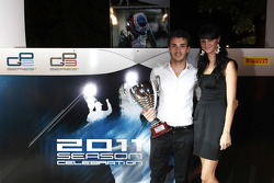 Jules Bianchi collects his trophy for 3rd in the GP2 Championship