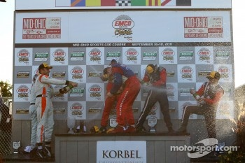 GT podium: champagne celebration