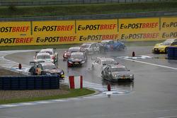 Start: Miguel Molina, Audi Sport Team Abt Junior, Audi A4 DTM and Bruno Spengler, Team HWA AMG Mercedes C-Klasse