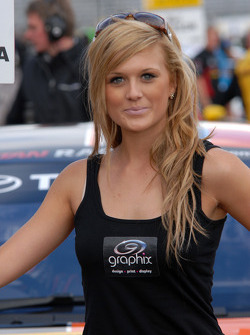 Dynojet grid girl to Frank Wrathall