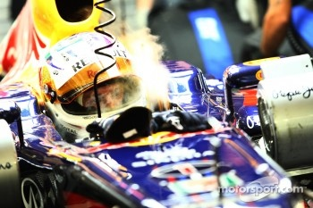 Sebastian Vettel, Red Bull Racing keeps cool