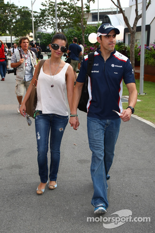 Gabriella Tarkany, the girlfriend of Pastor Maldonado