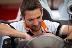 Oak Racing team member at work