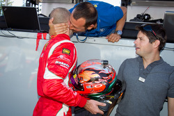 LMGT pole winner Gianmaria Bruni with Giancarlo Fisichella