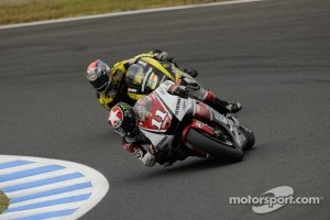 Ben Spies ahead of Colin Edwards