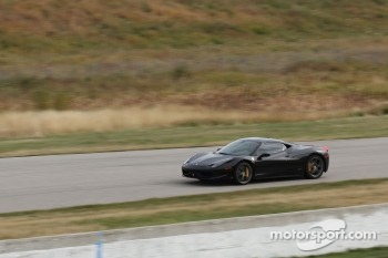 Damon Ockey drives his Ferrari 458 Italia