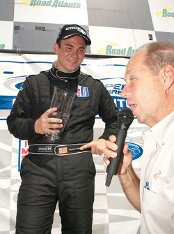 Cooper Prototype Lites 1 Podium: Seam Rayhall accepts his trophy