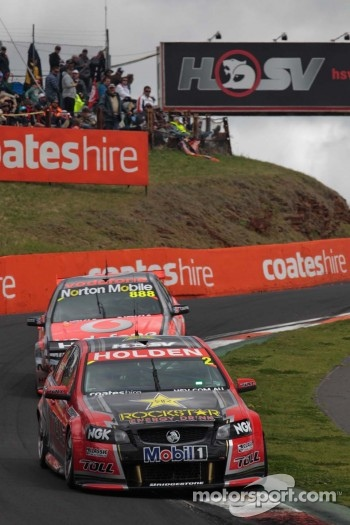 #2 Toll Holden Racing Team: Garth Tander, Nick Percat, #888 TeamVodafone: Craig Lowndes, Mark Skaife