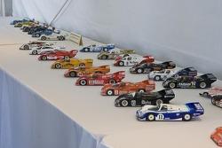 Porsche models on display in the Porsche Park