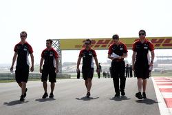 Timo Glock, Marussia Virgin Racing walks the track