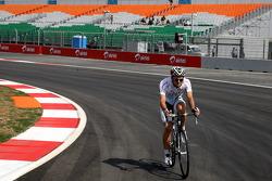 Jarno Trulli, Team Lotus rides the track
