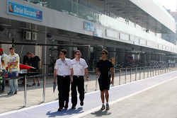 Daniel Ricciardo, HRT Formula One Team walks the track