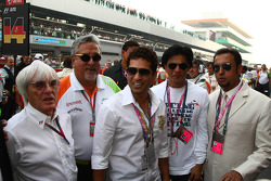 Bernie Ecclestone, and Vijay Mallya, Force India F1 Team Owner