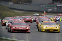 Race 1 Ferrari Challenge Italia and North America