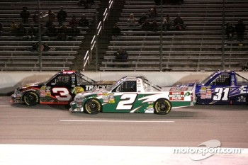 Austin Dillon, Kevin Harvick and James Buescher