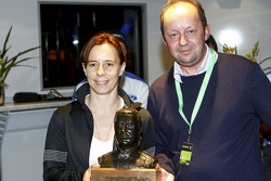 Ilka Minor was presented with the Michael Park Trophy at Ford Happy Hour