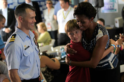 First Lady Michelle Obama talks with military families on behalf of 'Joining Forces'