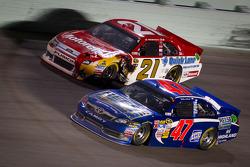 Bobby Labonte, JTG Daugherty Racing Toyota, Trevor Bayne, Wood Brothers Racing Ford
