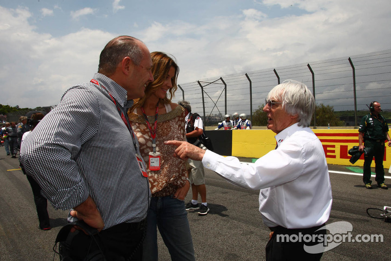Ron Dennis with Bernie Ecclestone