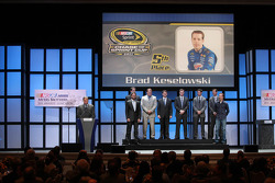 Brad Keselowski, Jimmie Johnson, Dale Earnhardt Jr., Jeff Gordon, Denny Hamlin, Ryan Newman, Kyle Busch and Kurt Busch