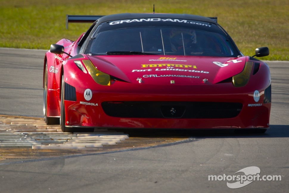 December test in the No. 62 Ferrari 458 Italia Grand Am with Raphael Matos,Toni Vilander