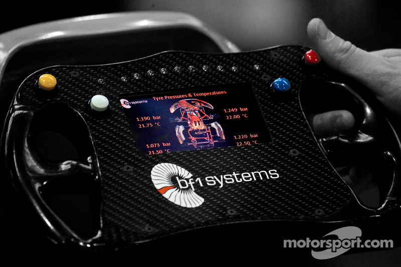 A very complex karting steering wheel